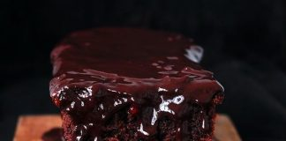 Cake σοκολάτας με κόκκινο κρασί!