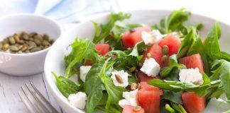 Σαλάτα με καρπούζι, φύλλα κάρδαμου και τυρί Ricotta!