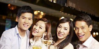 Japanese people drinking wine