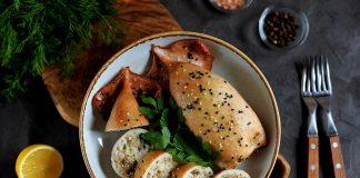 Καλαμάρια γεμιστά με πλιγούρι και λαχανικά